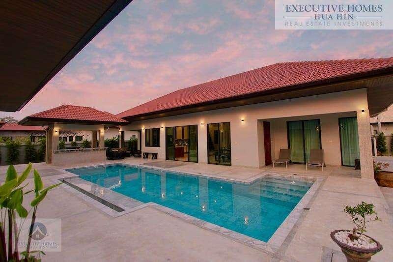 Golden Sands Beachside Villa | Outside Pool2 Sunset