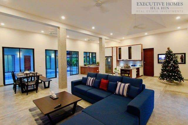 Golden Sands Villa Hua Hin | Inside Sofa Full Room1