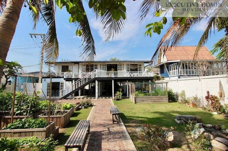 Beachfront Villa for Rent Khao Tao | Absolute Beachfront Khao Tao Villa For Rent | Hua Hin Beachfront Property | Hua Hin Beach