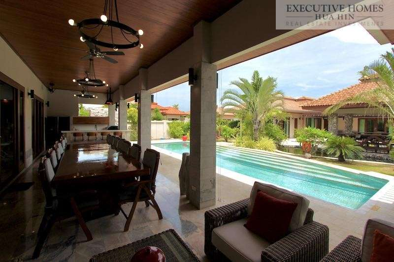 6 Bedroom Luxury Bali Style Pool Villa For Sale In Hua Hin